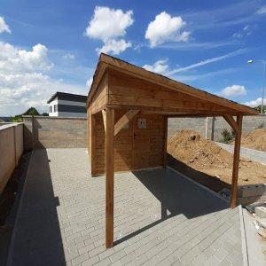 Záhradný drevený domcek Petra 2,5 x 6,25m vyrobeny zo sucheho smrekoveho dreva