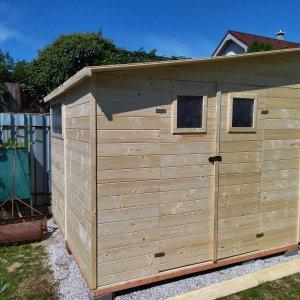 Zahradny dreveny domcek Ariana 2,5 x 2,5 m vyrobeny zo smrekoveho dreva