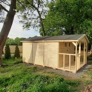 Zahradny drevený domcek Kristina