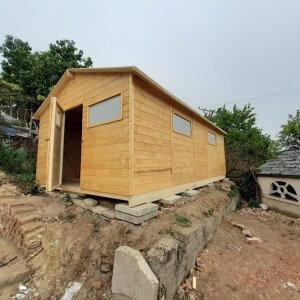 Záhradný drevený domček Gabriela pohlad z boku