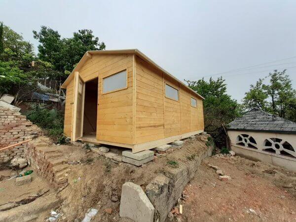 Zahradní dřevěný domek Gabriela pohlad z boku