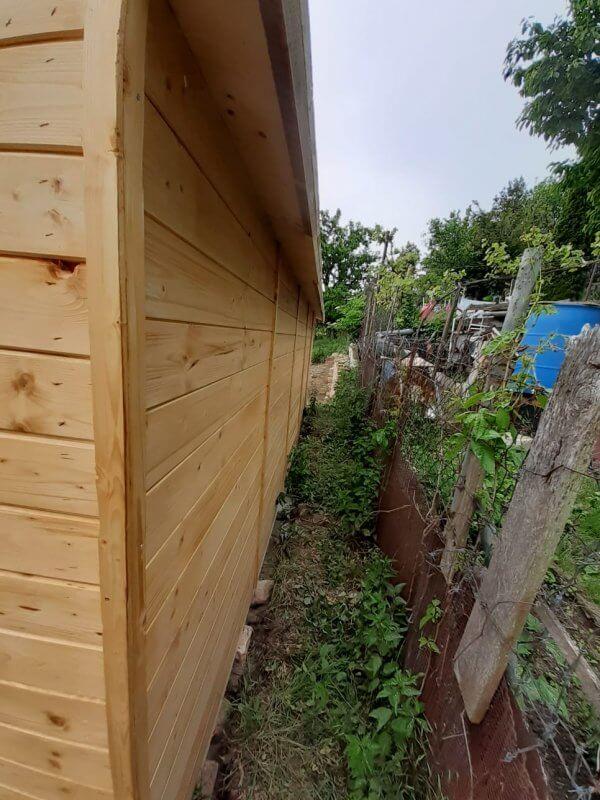 Zahradní drevený domeček Gabriela obr.3 pohlad z bok